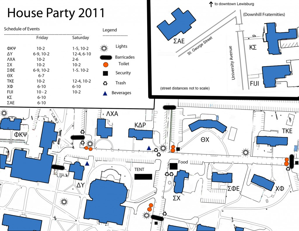 House Party Map
