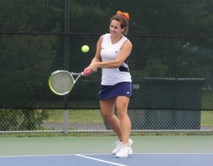 Lauren Lucido '11, her collegiate career now complete, is first all-time on the women's tennis wins list.