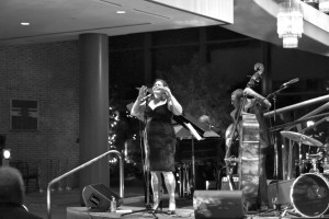 Chris Paine | The Bucknellian Marianne Solivan performed in the lobby of the Weis Center on February 20. The up-and-coming artist has already seen success in her jazz career, despite only recently embracing the genre.