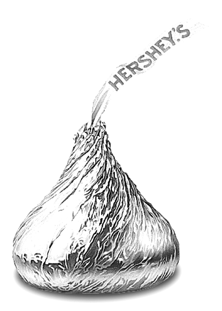 It's just an image of Bright Hershey Kiss Drawing
